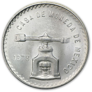 1978 1 oz Mexican Silver Onza Balance Scale (AU or Better)