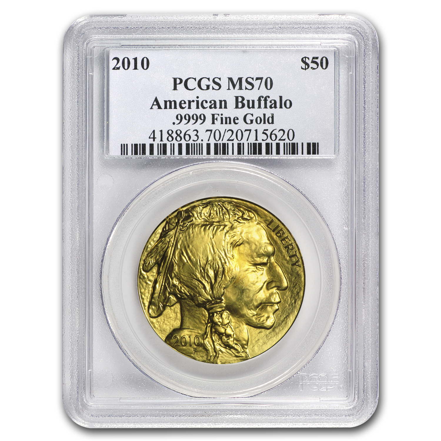 2010 1 oz Gold Buffalo MS-70 PCGS