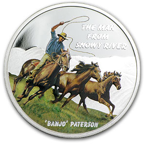 2010 1 oz Proof Silver The Man from Snowy River