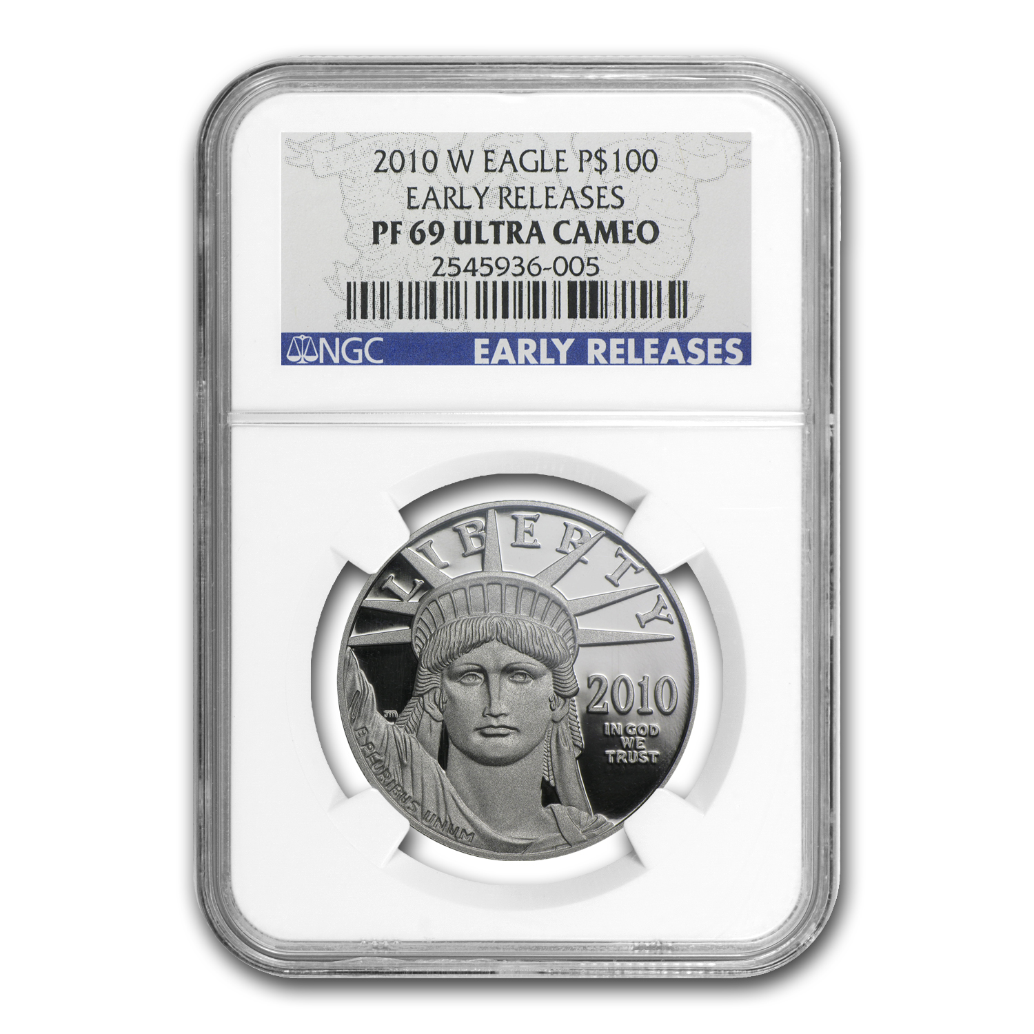 2010-W 1 oz Proof Platinum American Eagle PR-69 NGC (ER)
