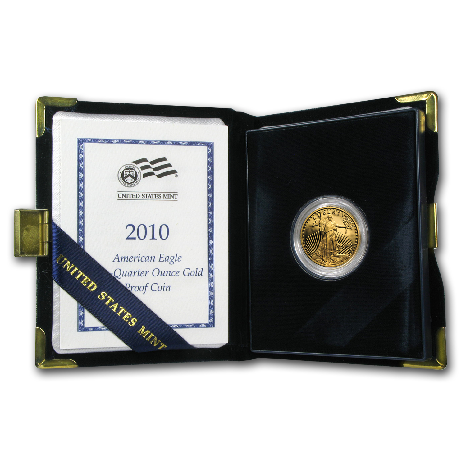 2010-W 1/4 oz Proof Gold American Eagle (w/Box & COA)