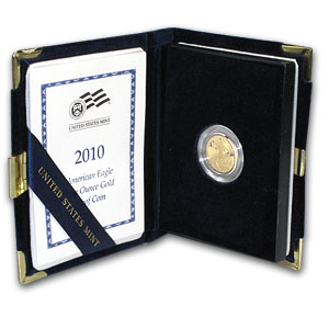 2010-W 1/10 oz Proof Gold American Eagle (w/Box & CoA)