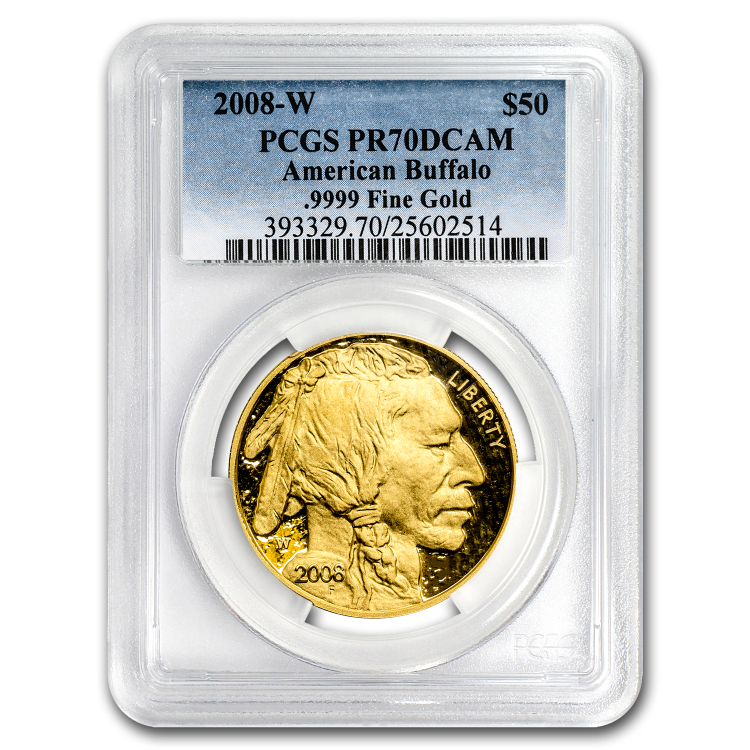 2008-W 1 oz Proof Gold Buffalo PR-70 PCGS