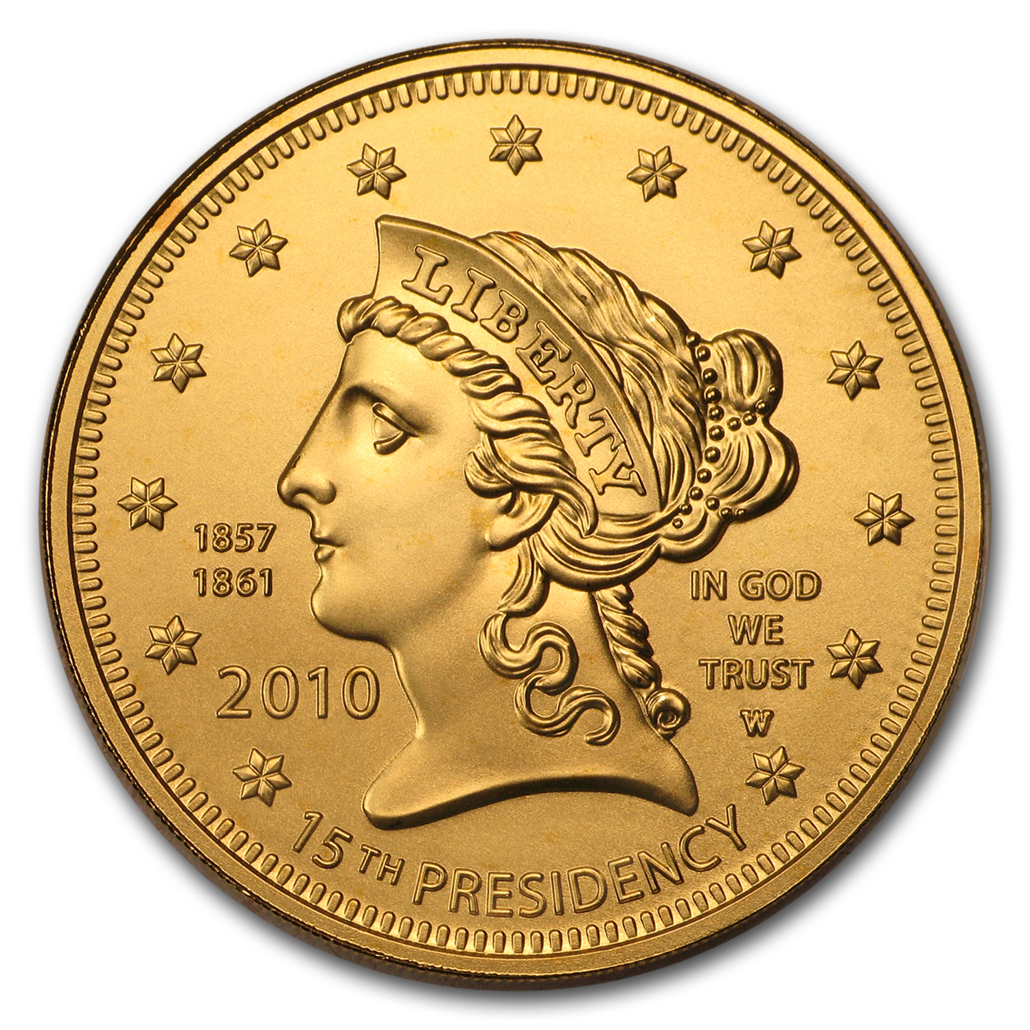 2010-W 1/2 oz Gold Buchanan's Liberty BU (w/Box & COA)