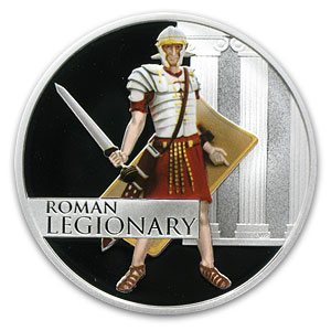 2010 1 oz Proof Silver Great Warriors Series (Roman)
