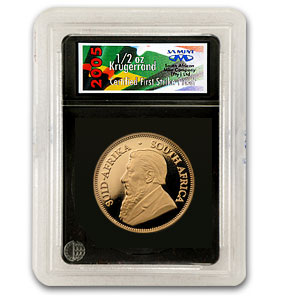 2005 South Africa 1/2 oz Proof Gold Krugerrand