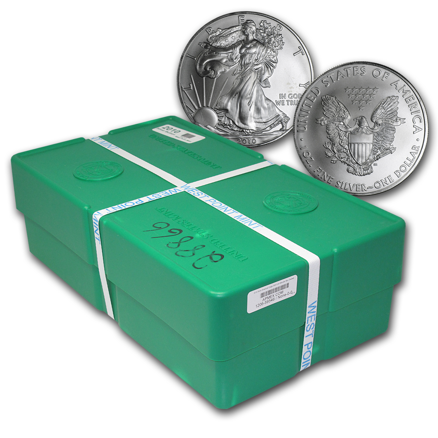 2010 500-Coin Silver Eagle Monster Box (WP Mint, Sealed)
