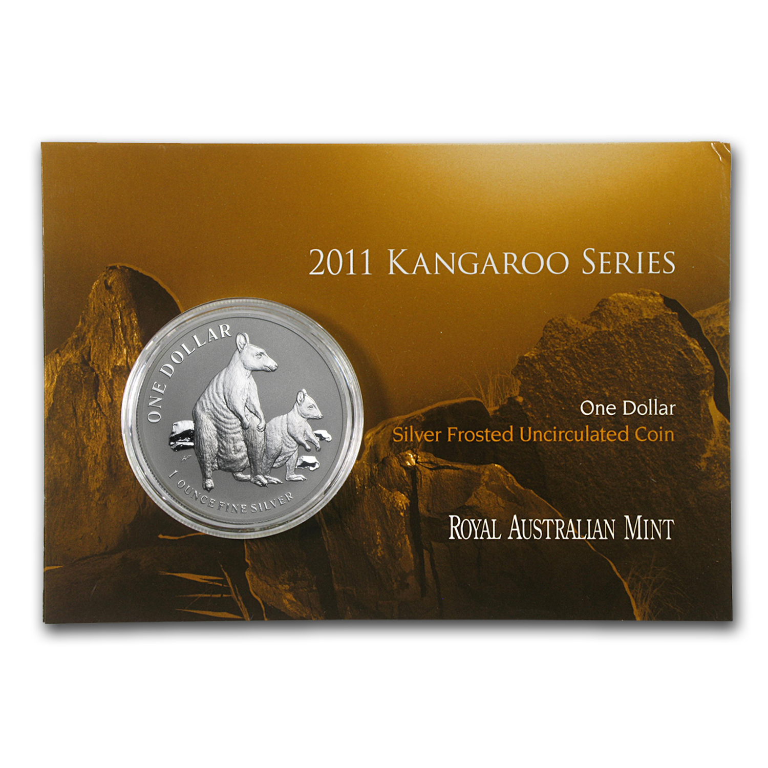 2011 Australia 1 oz Silver Kangaroo (In Display Card)