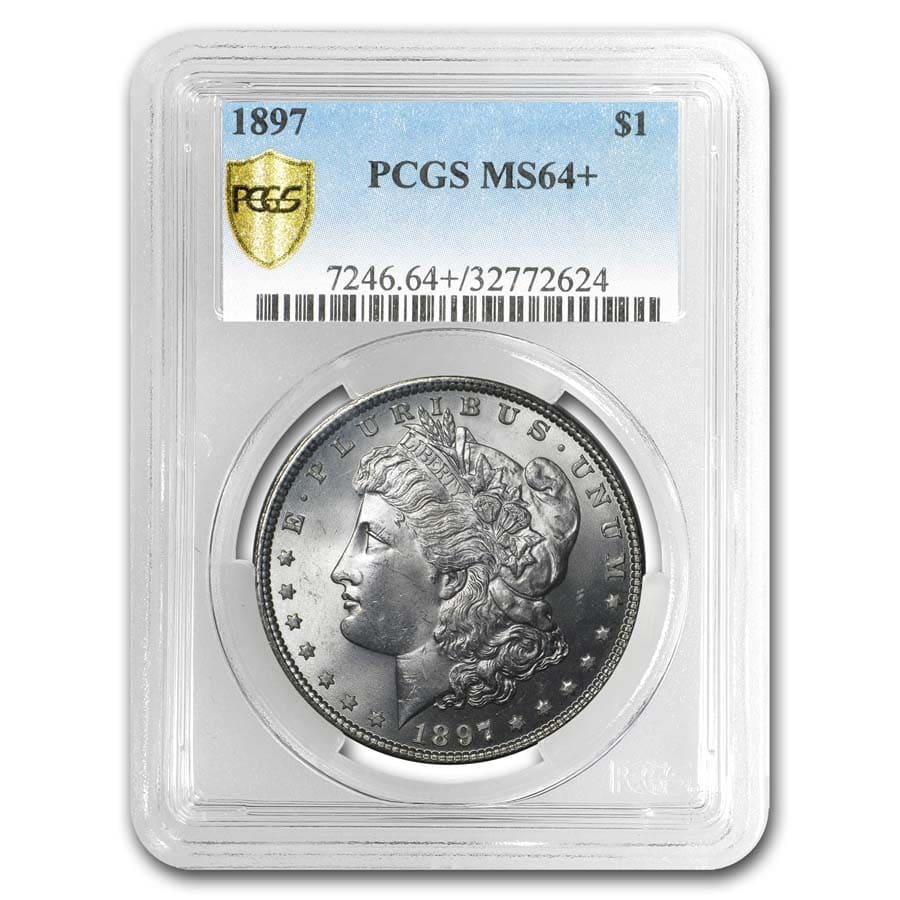 1878-1904 Morgan Dollars MS-64+ PCGS