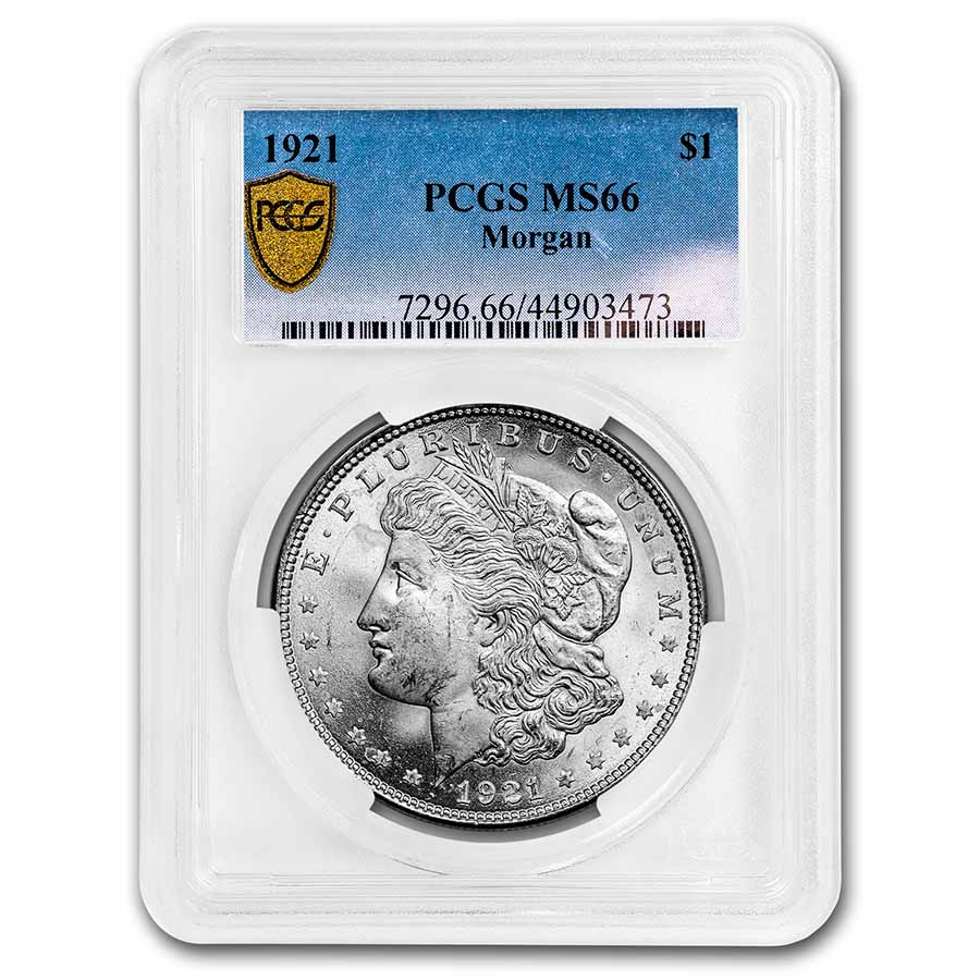 1921 Morgan Dollar MS-66 PCGS