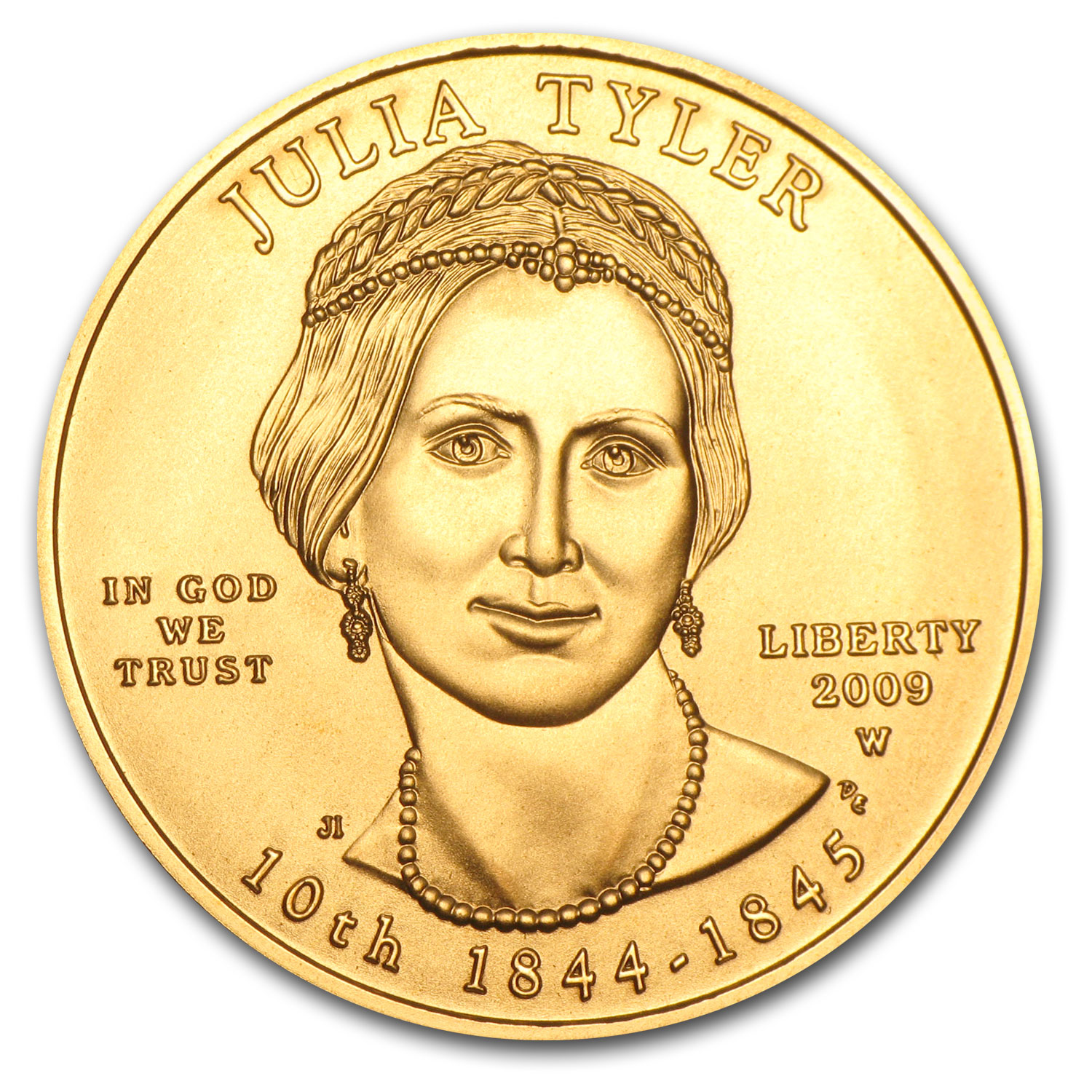 2009-W 1/2 oz Uncirculated Gold Julia Tyler (w/Box & CoA)