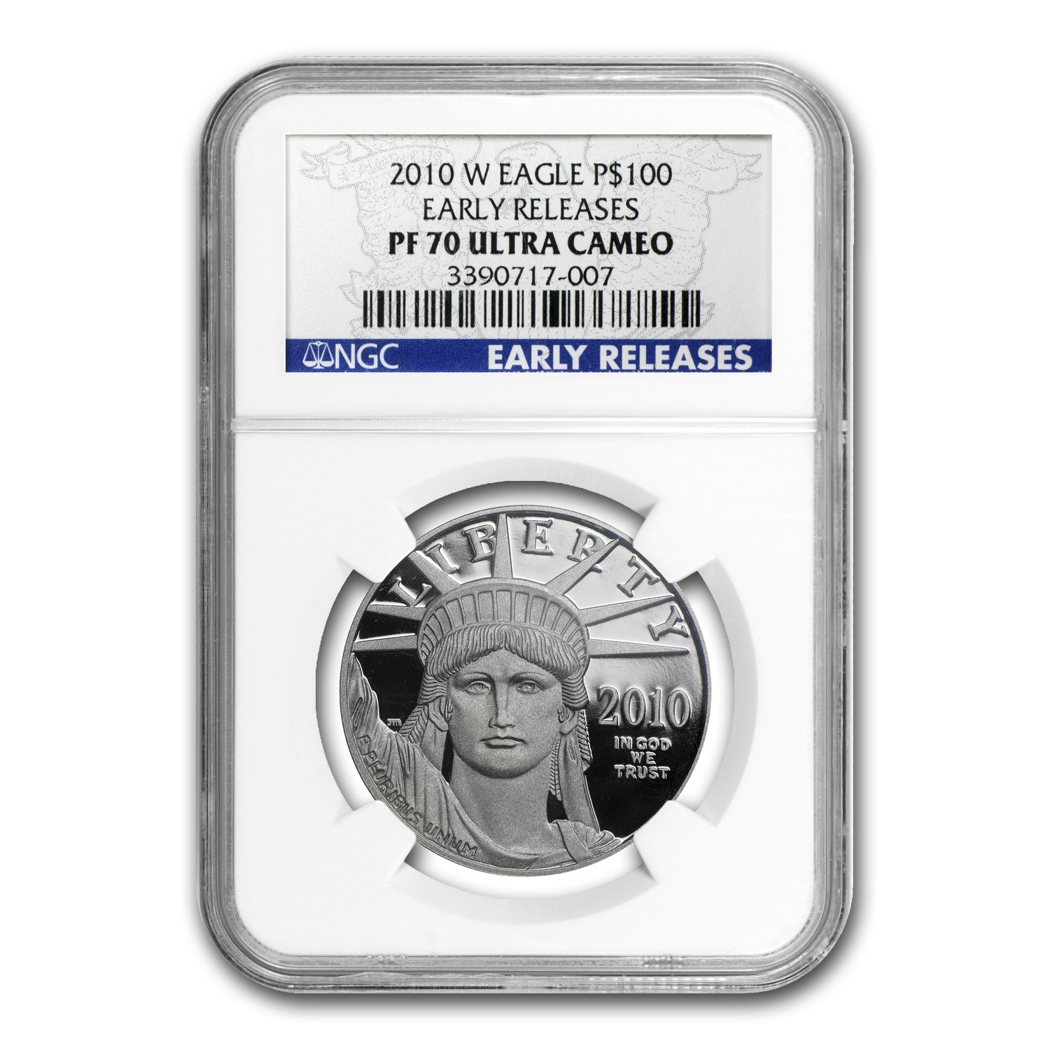 2010-W 1 oz Proof Platinum American Eagle PF-70 NGC (ER)