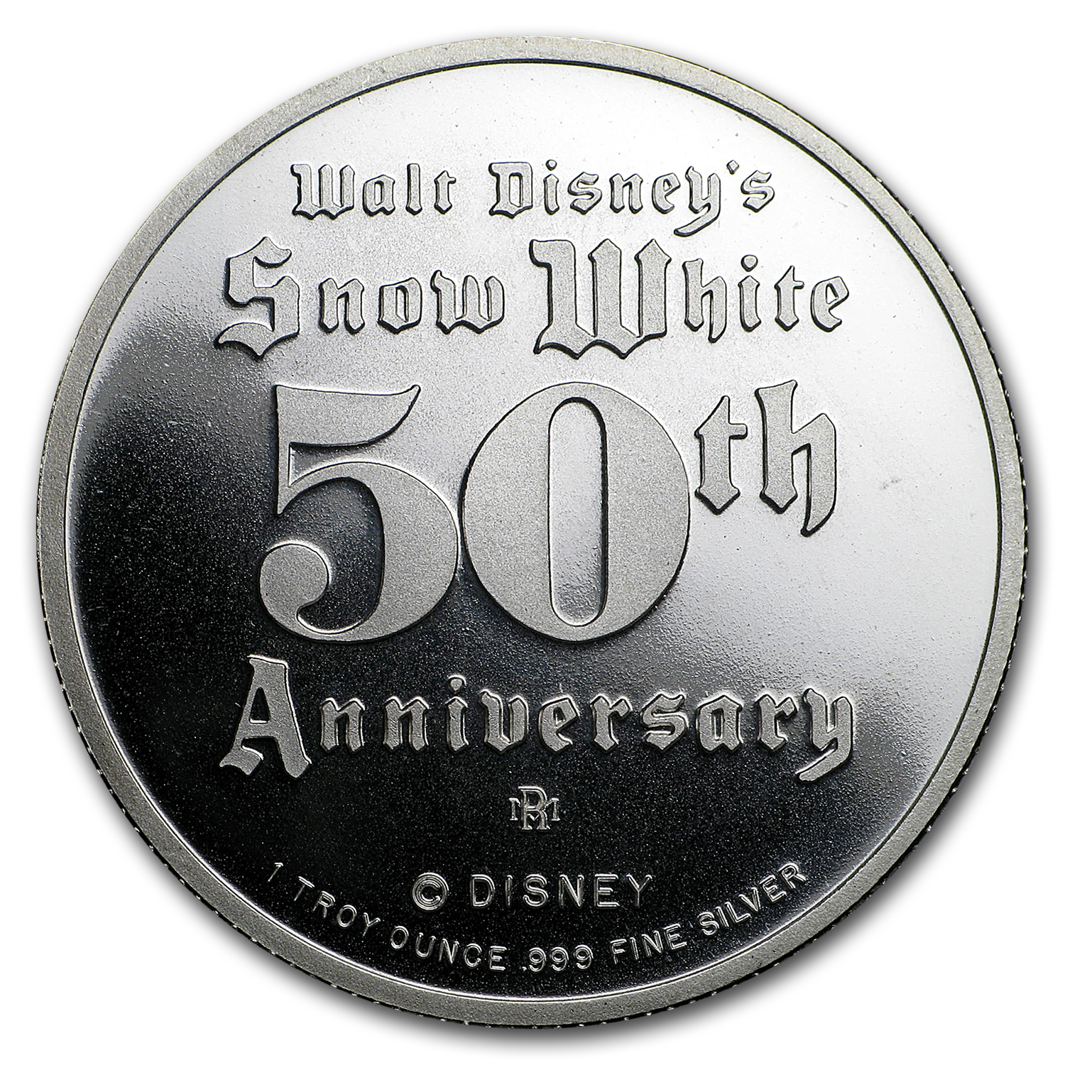 1 oz Silver Round - Disney/Snow White 50th Anniv (Random)