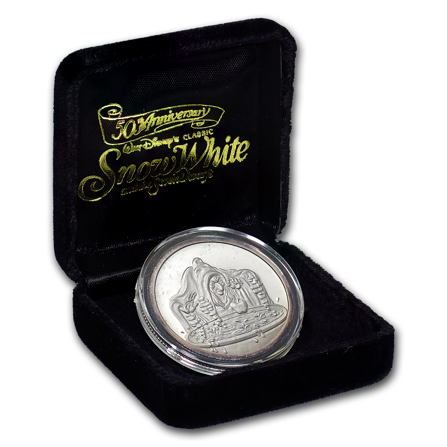 1 oz Silver Rounds - Disney/Snow White 50th Anniv (Random)
