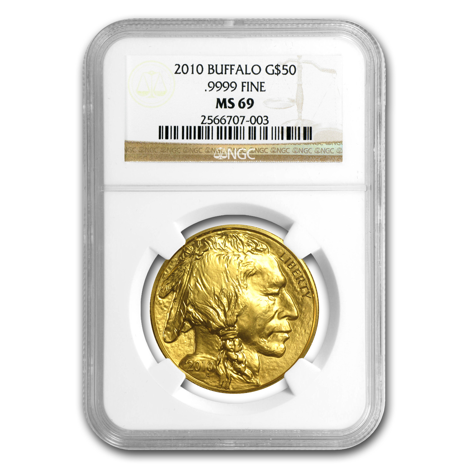 2010 1 oz Gold Buffalo MS-69 NGC