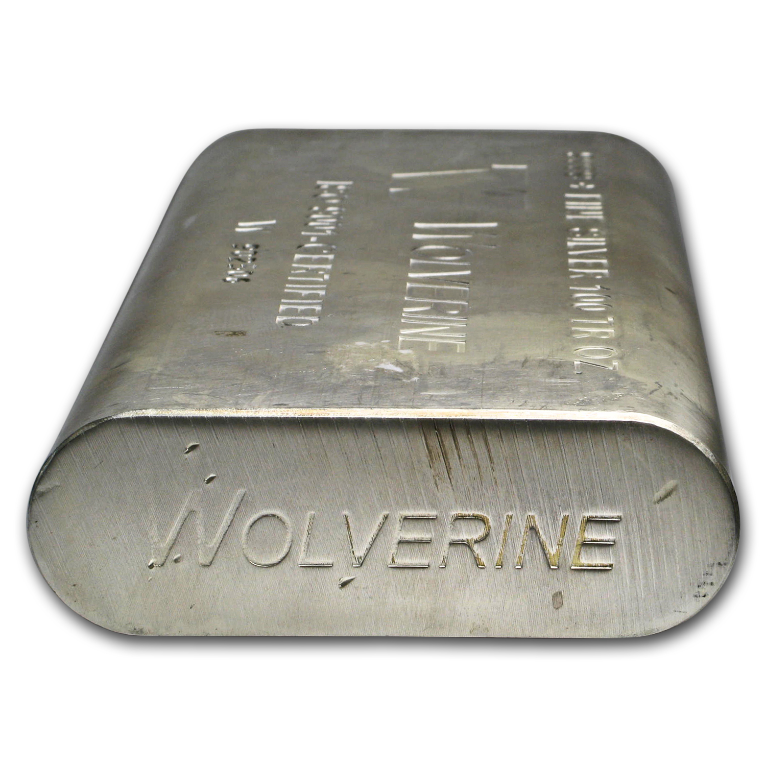 100 oz Silver Bars - Wolverine (Extruded)