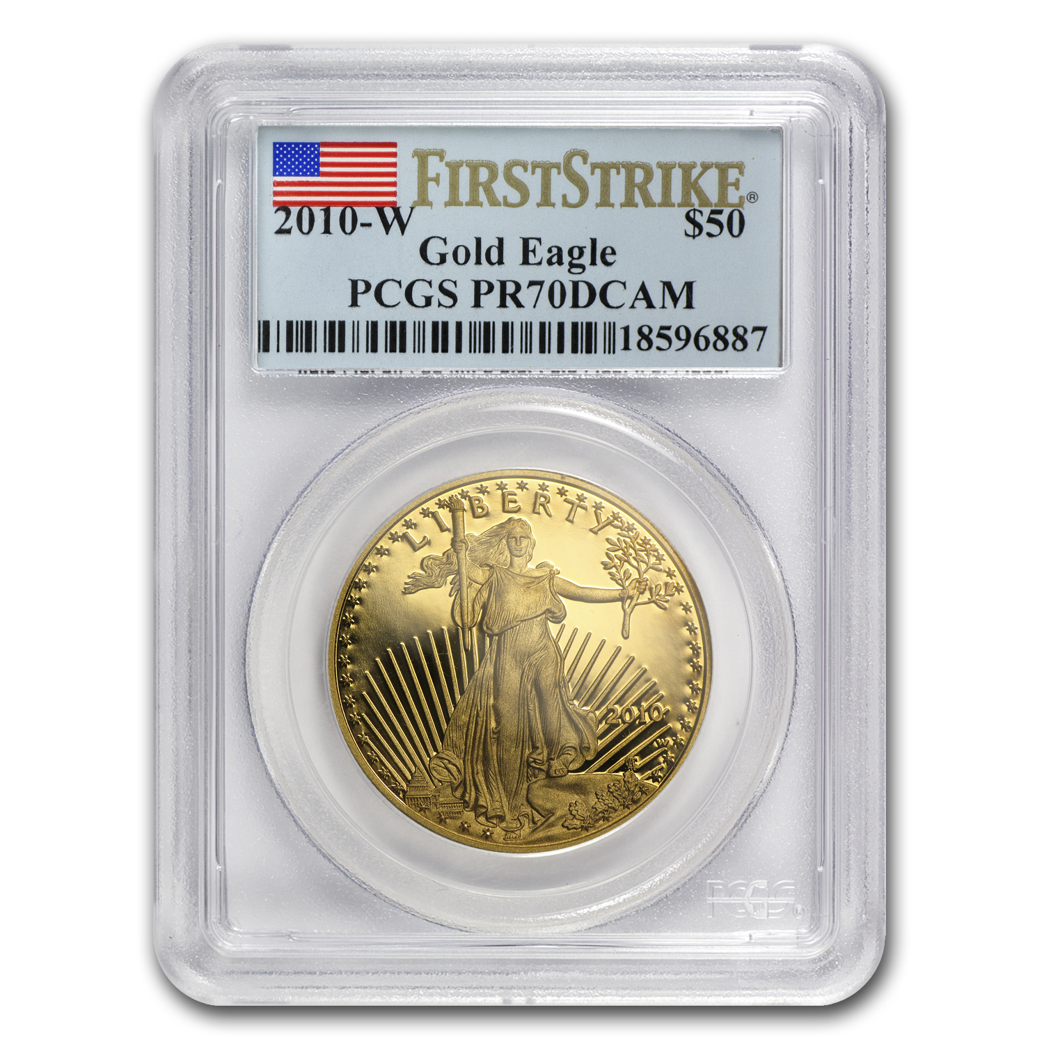 2010-W 1 oz Proof Gold American Eagle PR-70 PCGS (FS)