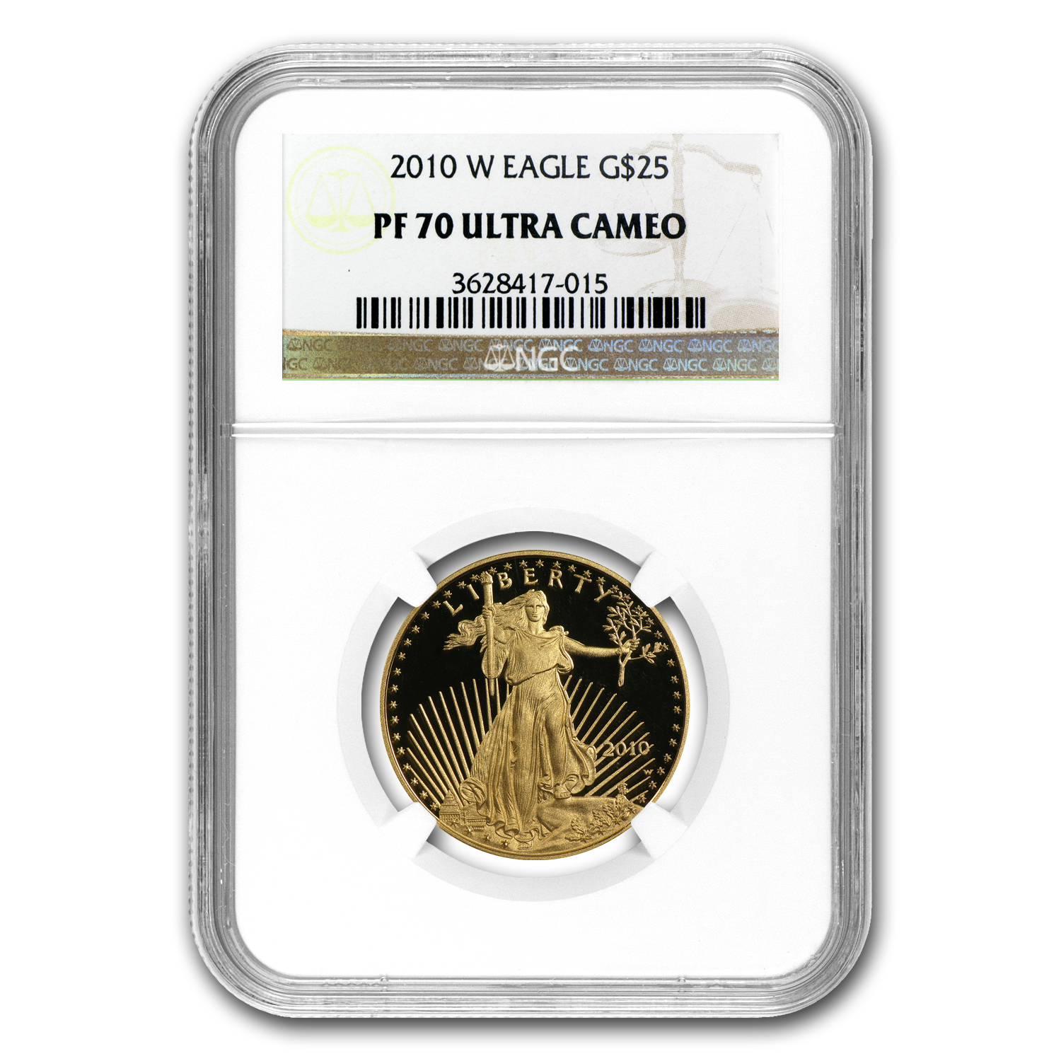 2010-W 1/2 oz Proof Gold American Eagle PF-70 UCAM NGC