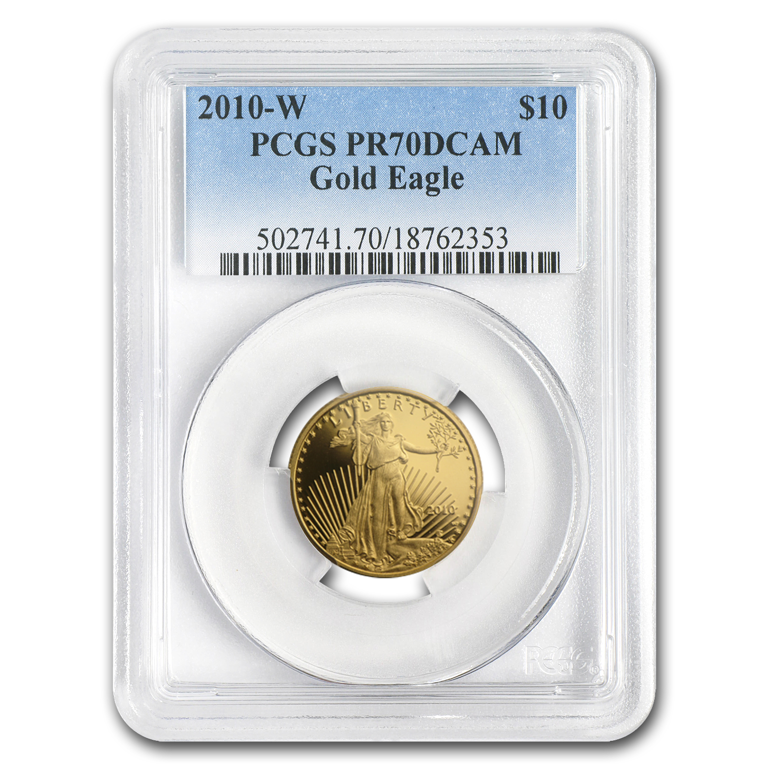 2010-W 1/4 oz Proof Gold American Eagle PR-70 PCGS