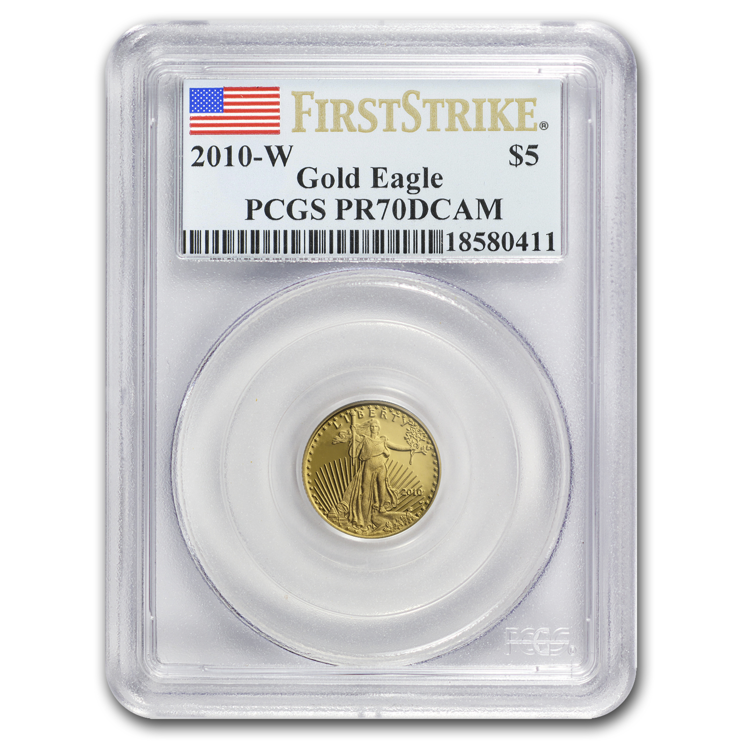 2010-W 1/10 oz Proof Gold American Eagle PR-70 PCGS (FS)