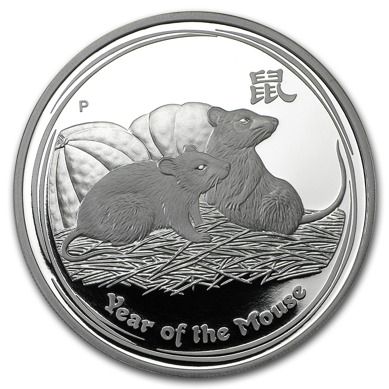2008 Australia 1 oz Silver Year of the Mouse Proof (Series II)