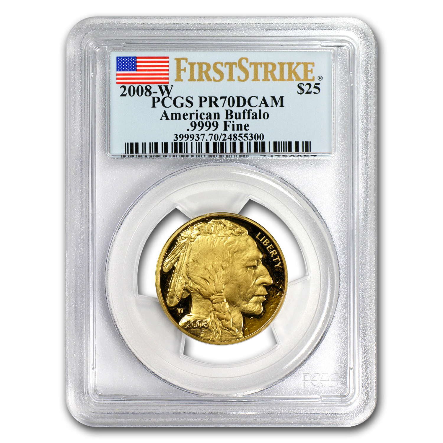 2008-W 1/2 oz Proof Gold Buffalo PR-70 PCGS (FS, Registry Set)