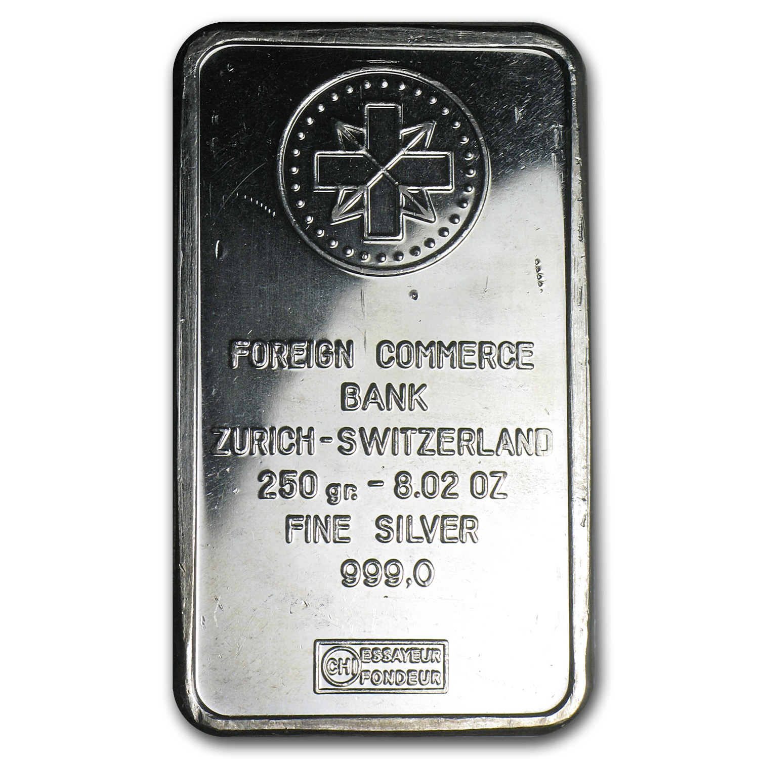 250 gram Silver bars - Zurich, Switzerland