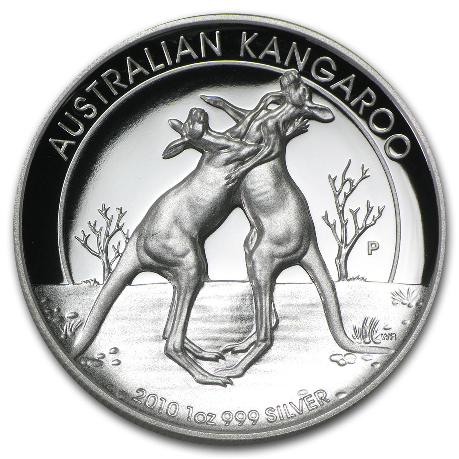 2010 Australia 1 oz Silver Kangaroo Proof (High Relief)