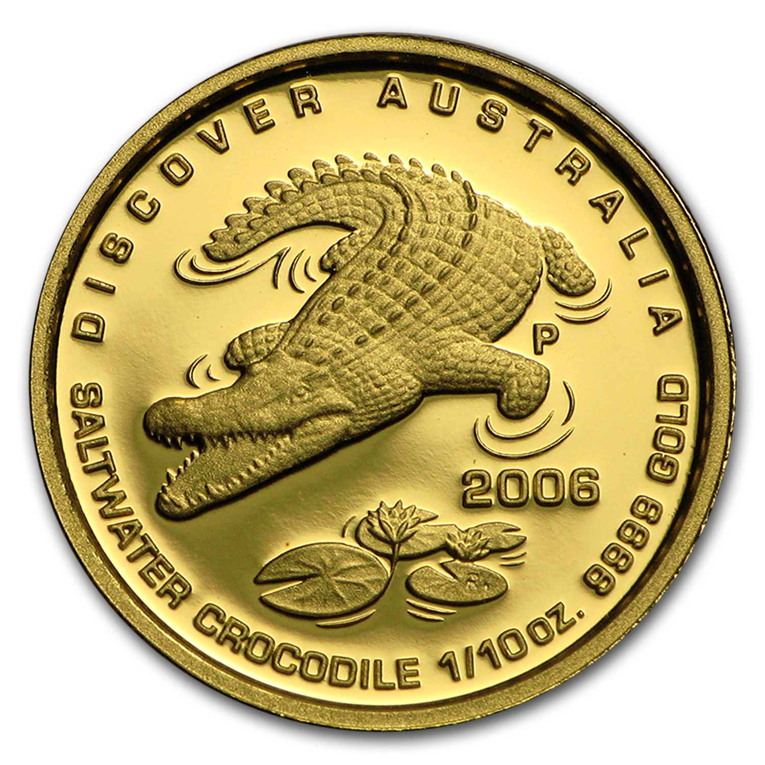 2006 1/10 oz Gold Crocodile Discover Australia Proof