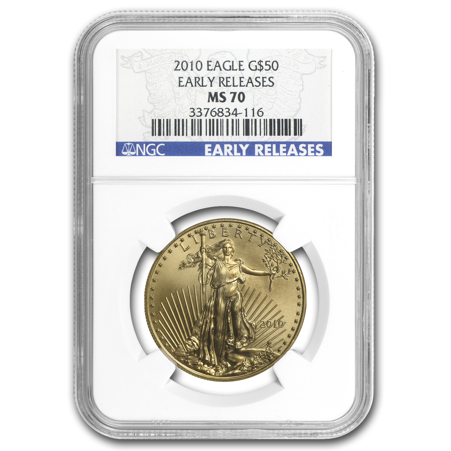 2010 4-Coin Gold American Eagle Set MS-70 NGC (ER)