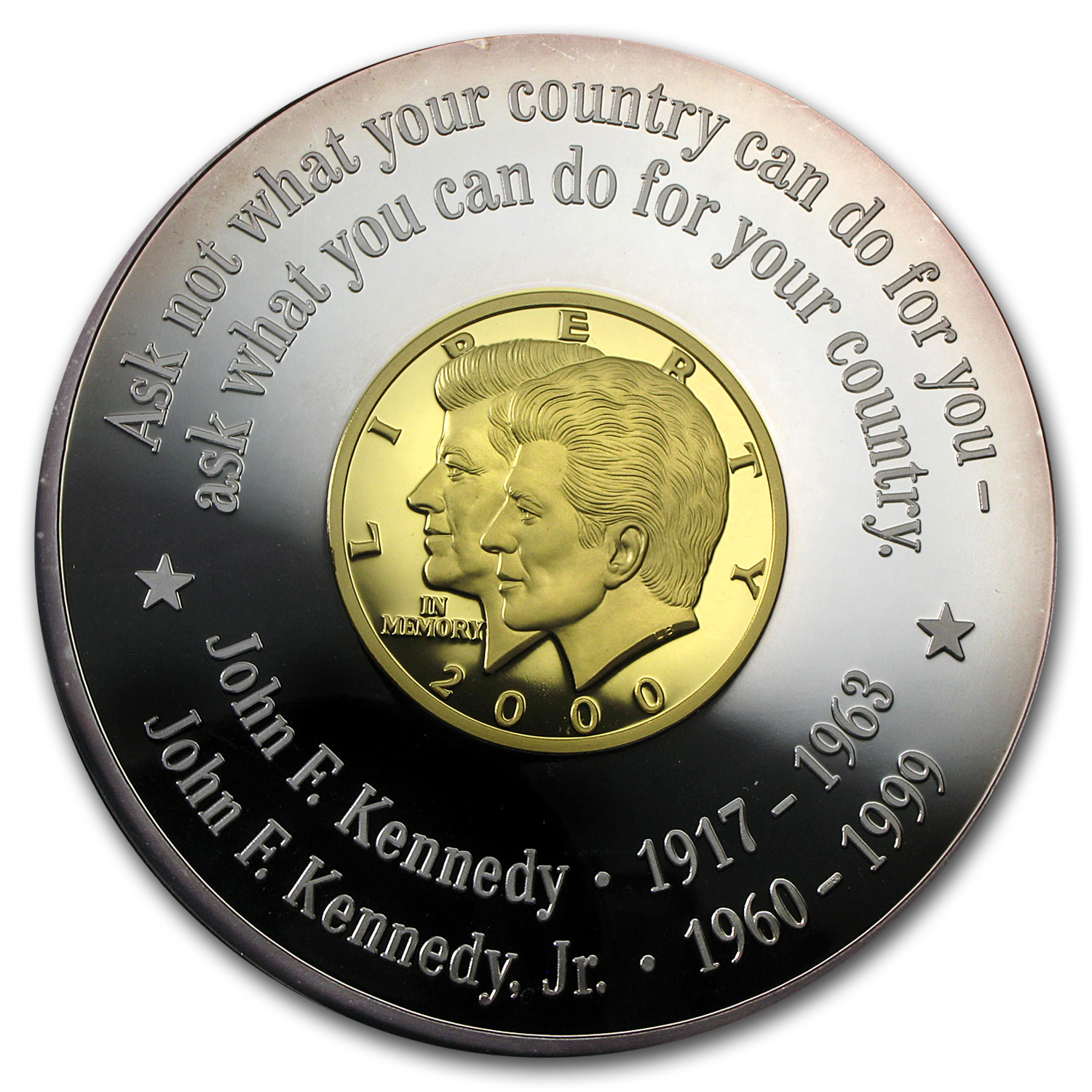 1999 Liberia 1/2 oz Proof Gold/Silver 500 Dollars JFK & JFK Jr