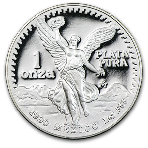1990 Mexico 1 oz Silver Libertad Proof (In Capsule)