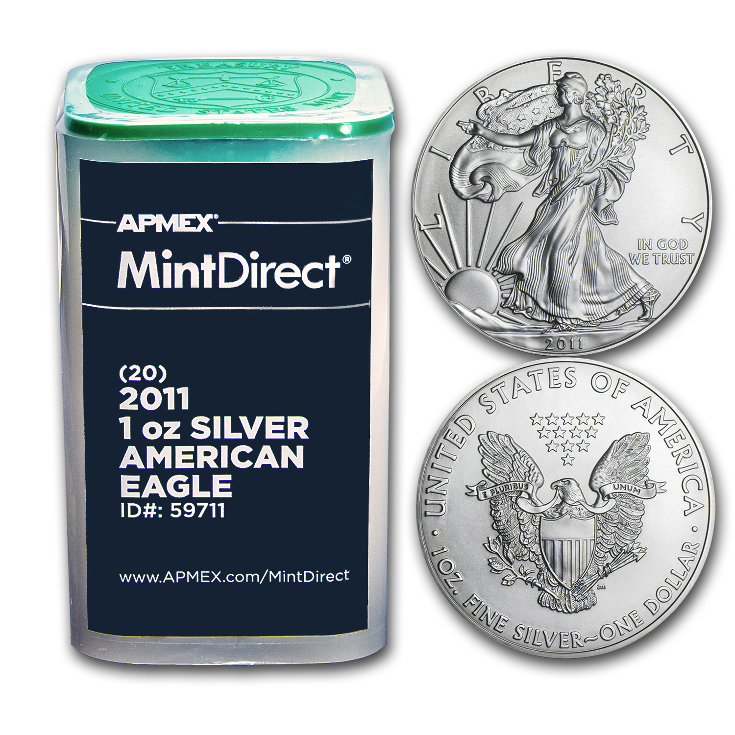 2011 1 oz Silver American Eagles (20-Coin MintDirect® Tube)
