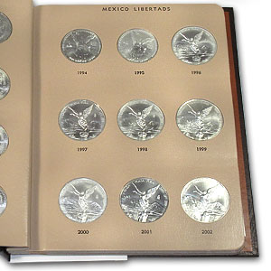 1982-2013 Silver Mexican Libertad Set In Dansco Album (34 Coins)