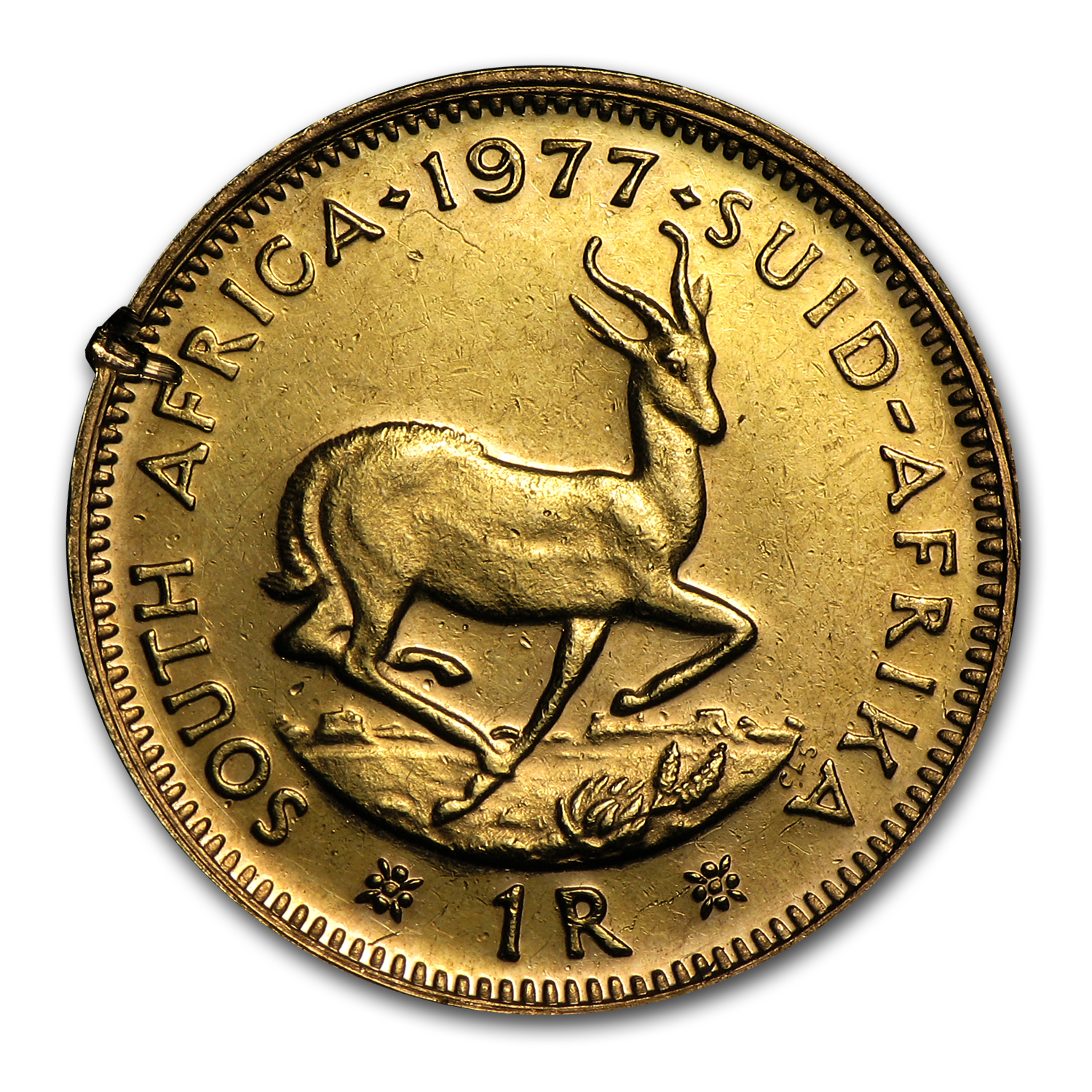 South Africa Gold 1 Rand (Abrasions, Random)