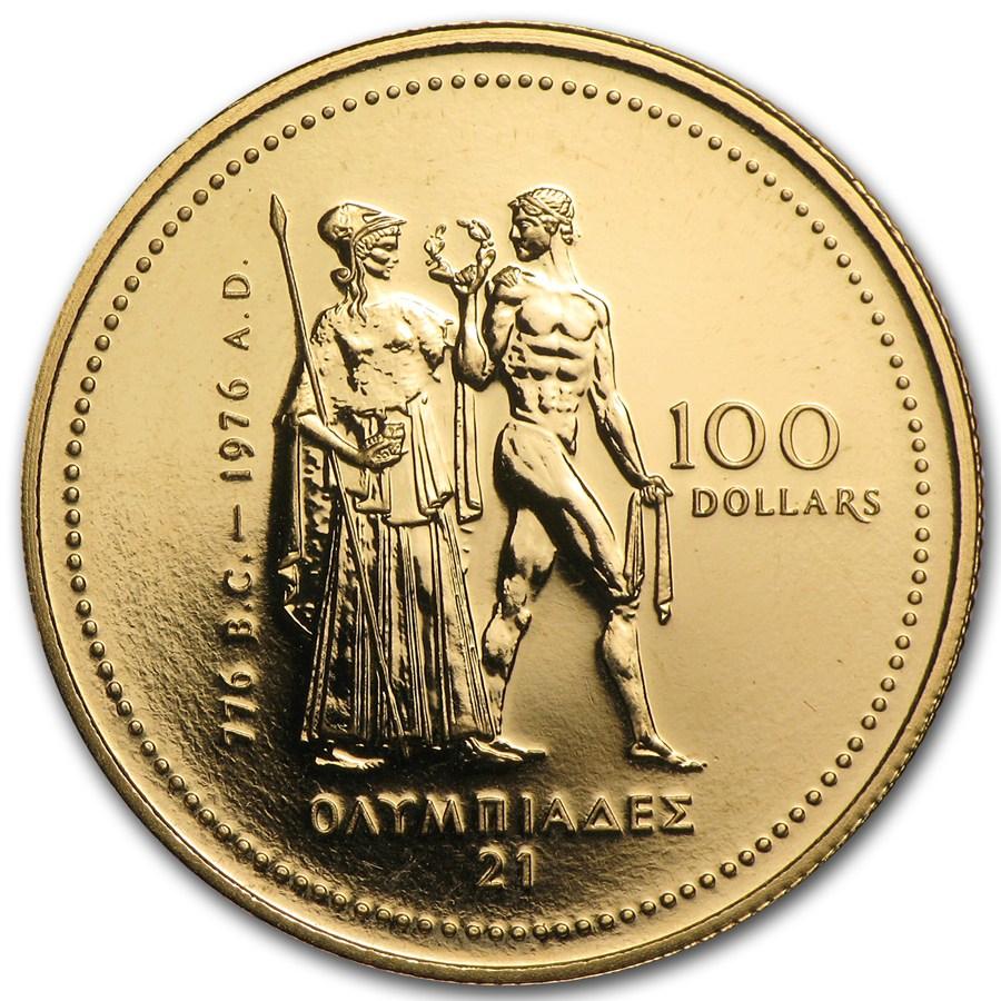 1976 Canada 1 4 Oz Gold 100 Olympic Bu Rcm Gold Modern