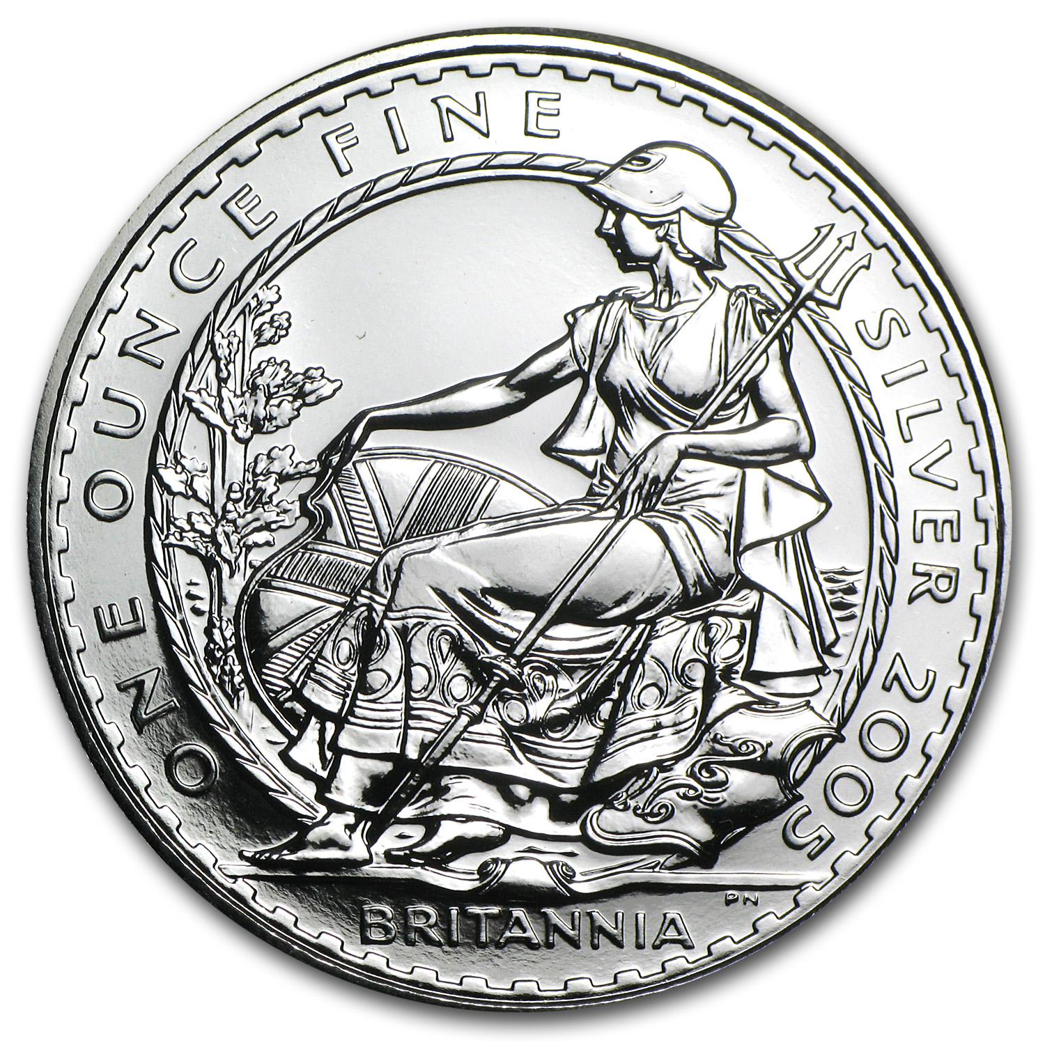 2005 Great Britain 1 oz Silver Britannia BU