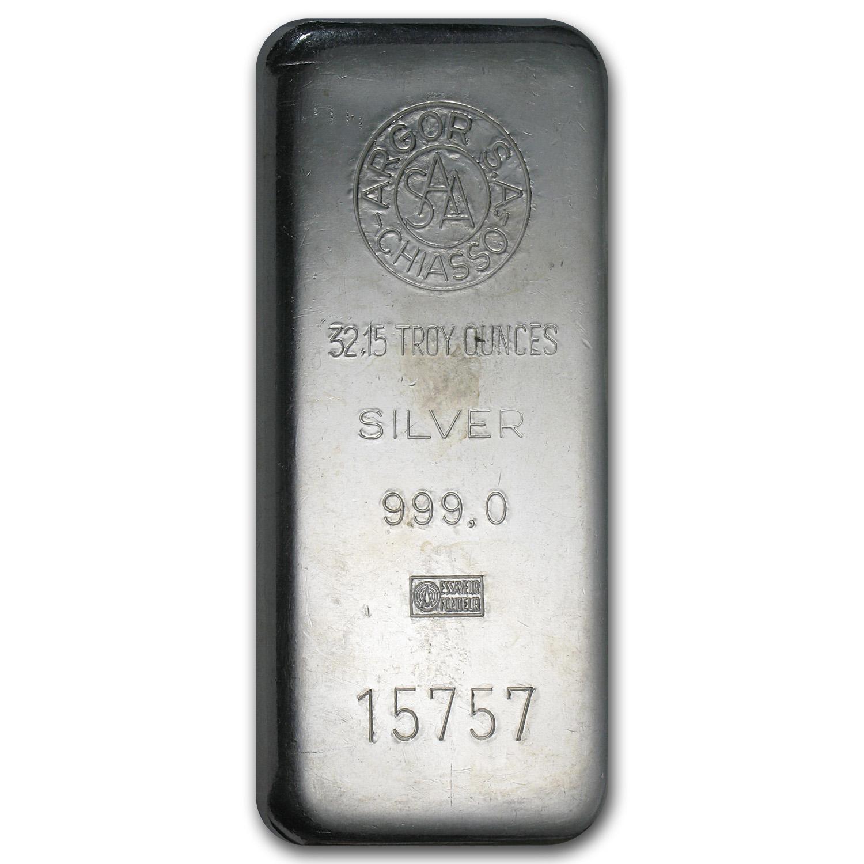 1 Kilo Silver Bar Argor S A Chiasso Kilo 32 15 Oz