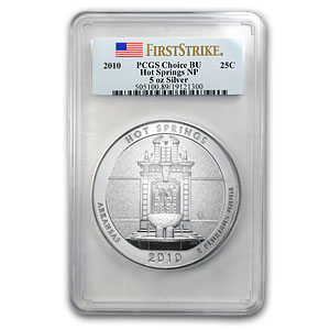 2010 5 oz Silver ATB 5-Coin Set PCGS BU or Better (May 13th)