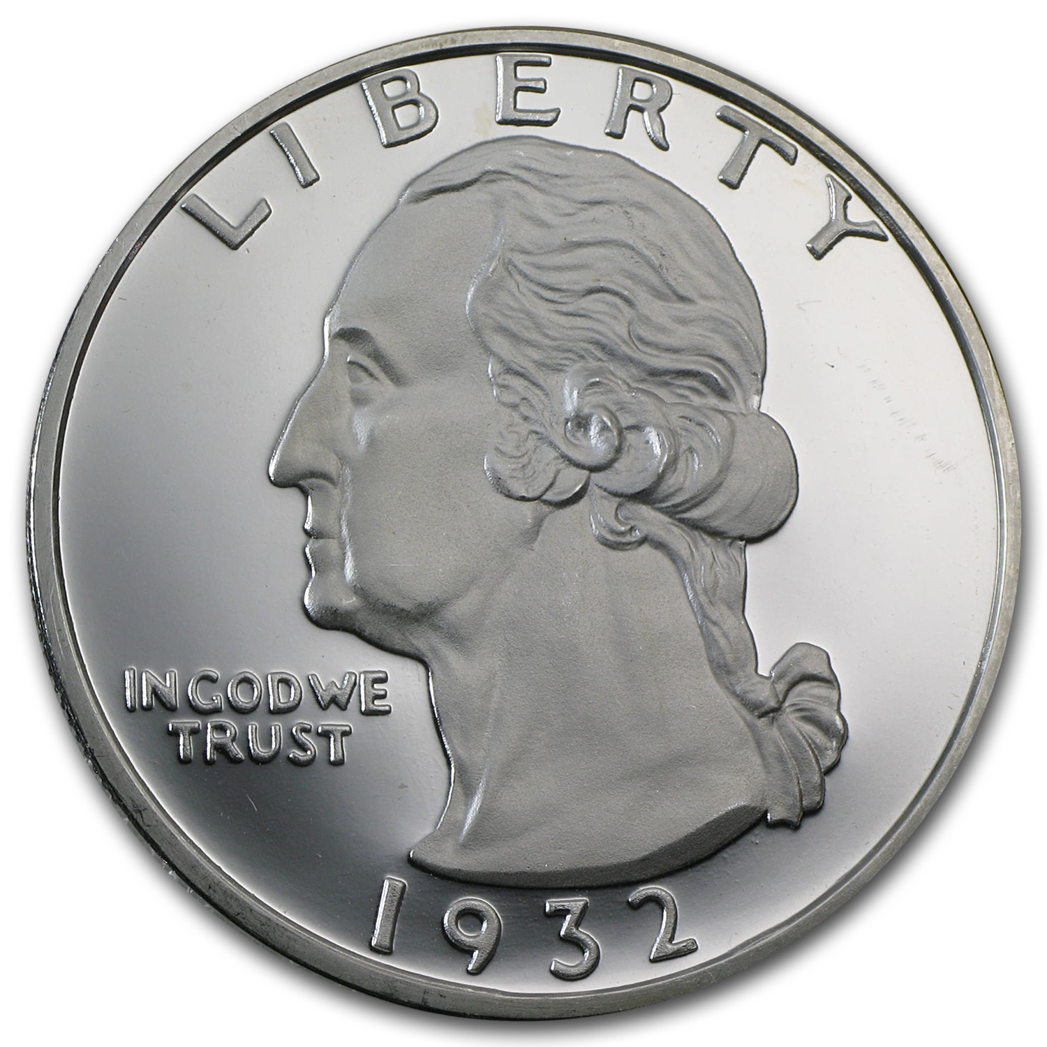 2 Oz Silver Round George Washington Quarter Replica