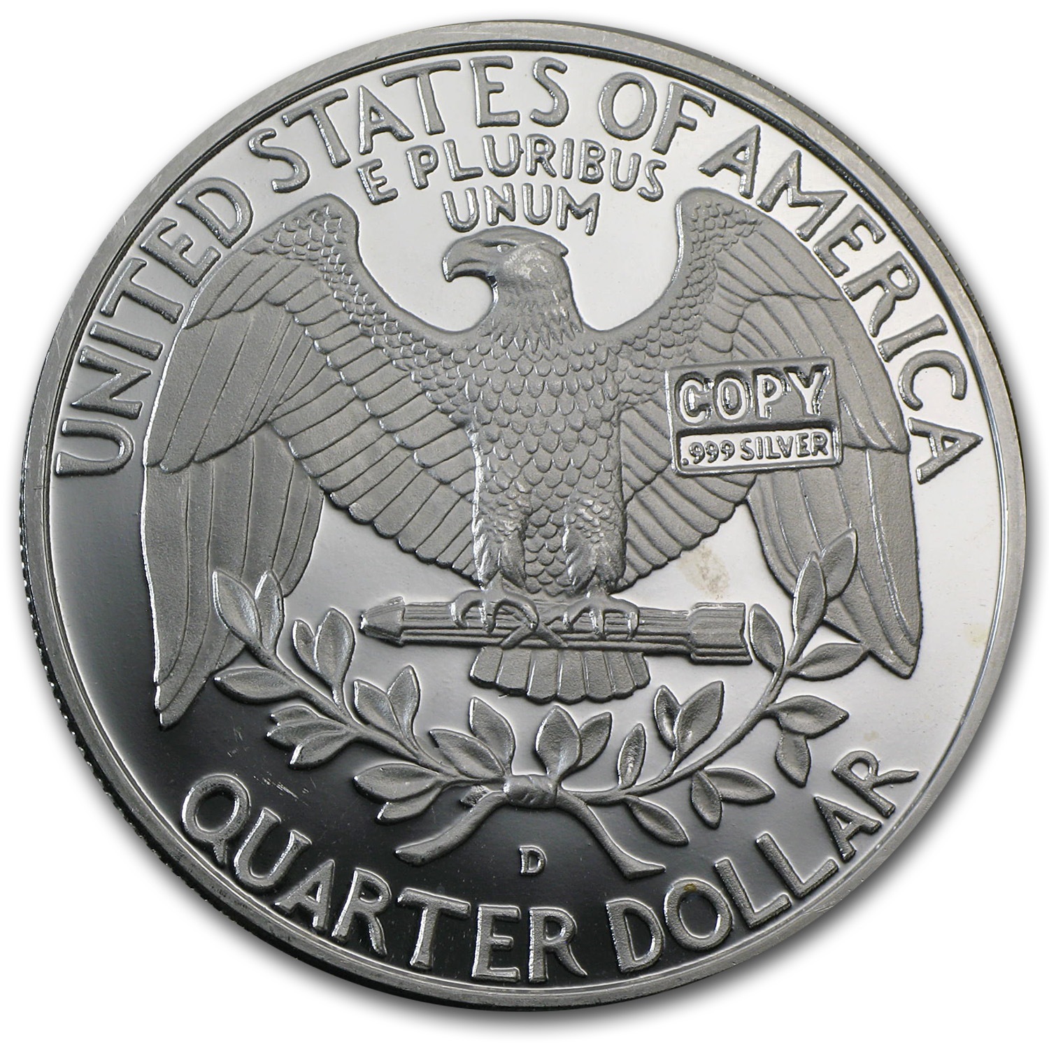 2 oz George Washington Quarter (Replica) Silver Round .999 Fine