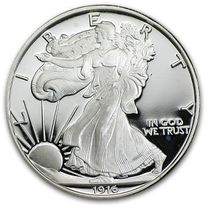 2 oz Walking Liberty Half Dollar (Replica) Silver Round .999 Fine