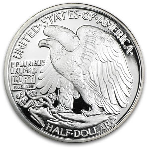 2 oz Silver Round - Walking Liberty Half Dollar (Replica)
