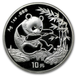 1994 China 1 oz Silver Panda Small Date BU (Sealed)