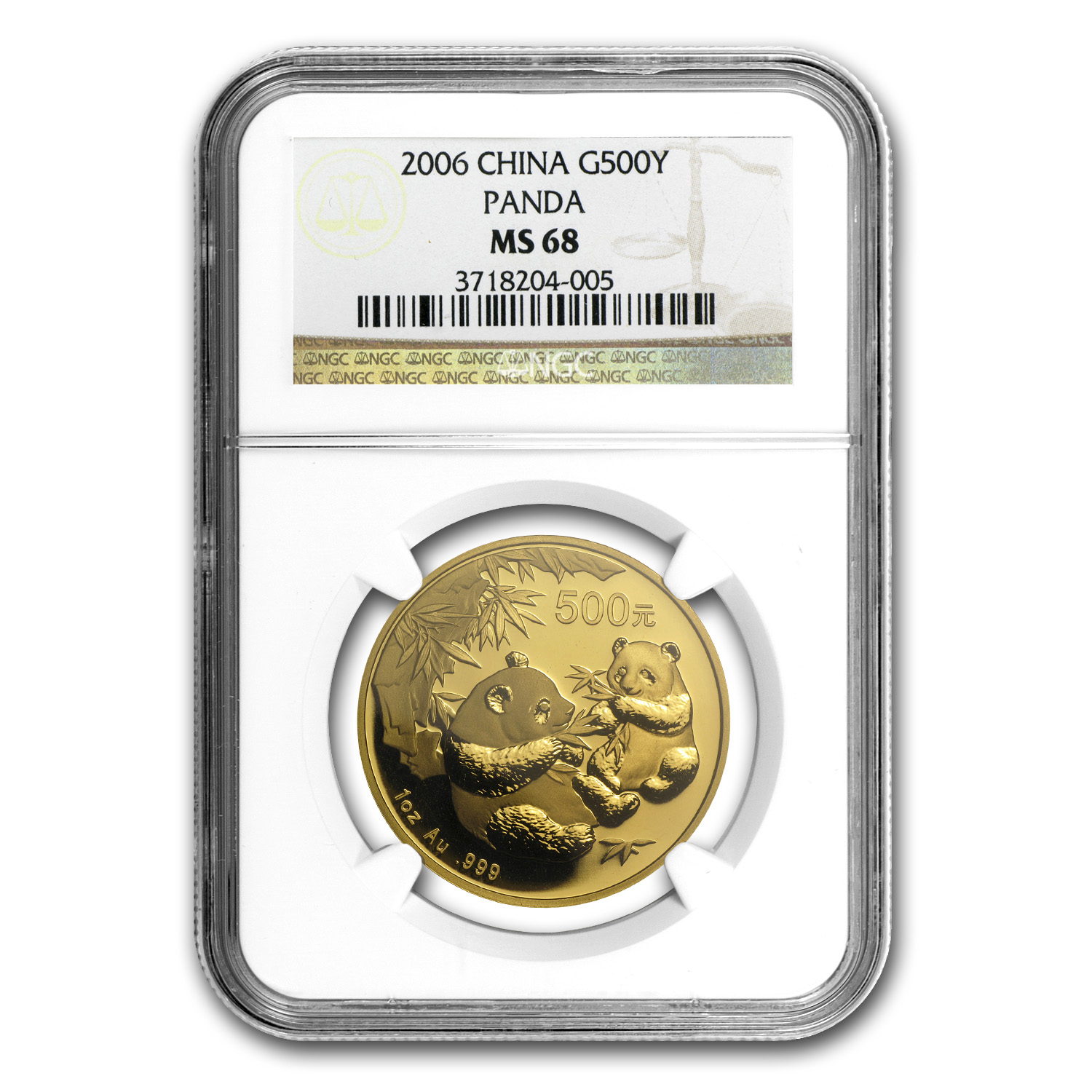 2006 China 1 oz Gold Panda MS-68 NGC