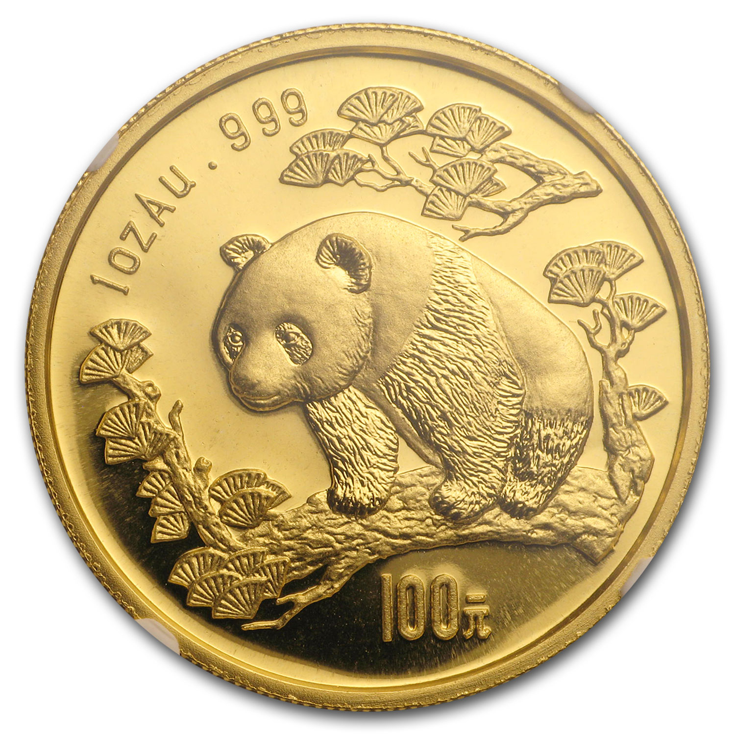 1997 China 1 oz Gold Panda Small Date MS-69 NGC