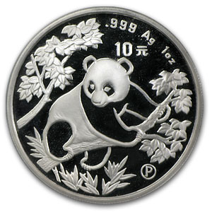 1992 China 1 oz Silver Panda Proof (Sealed)