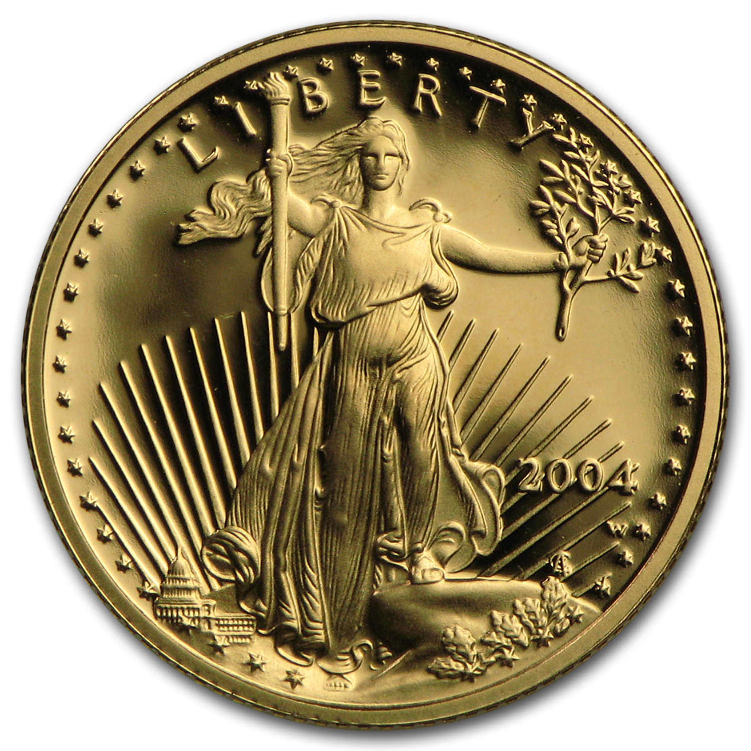 2004-W 1/10 oz Proof Gold American Eagle (w/Box & CoA)