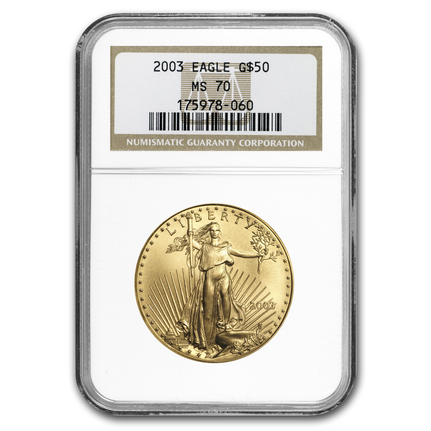 2003 4-Coin Gold American Eagle Set MS-70 NGC