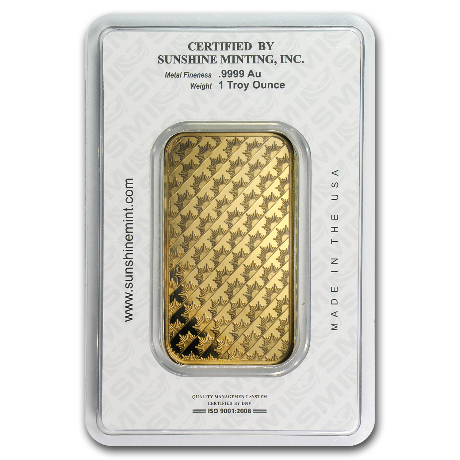 1 oz Gold Bar - Sunshine Minting (Old Design in TEP Packaging)
